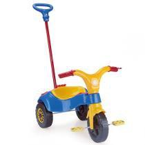 Triciclo Infantil com Haste Azul 4239 - Homeplay - Homeplay