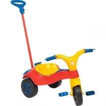 Triciclo Infantil com Haste Vermelho 4234 - Homeplay - Homeplay