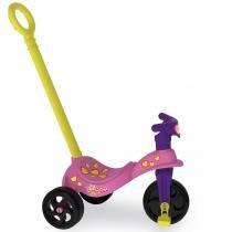 Triciclo Infantil Gatinha com Empurrador 7493 - Xalingo - Xalingo