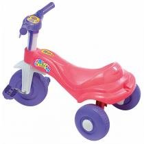 Triciclo Infantil Tico Tico Bala Rosa e Roxo Magic Toys -