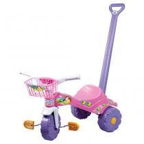 Triciclo Infantil Tico Tico Com Empurrador Sereia - Magic toys