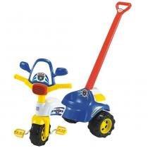 Triciclo Infantil Tico Tico Polícia 2703 Magic Toys com Haste -