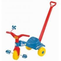 Triciclo Infantil Tico Tico Popó com Haste 2111 - Magic Toys - Magic Toys