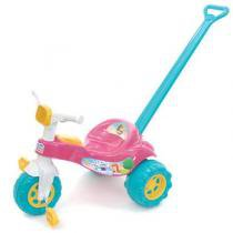 Triciclo Infantil Tico Tico Princesa 2232 Magic Toys com Haste - Magic Toys