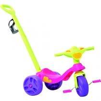 Triciclo kid cross passeio rosa bandeirante 636 - Bandeirante