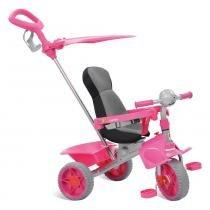 Triciclo Smart Comfort Rosa Reclinável - Bandeirante