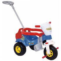 Triciclo tico-tico bichos azul com aro magic toys 3510 - Magic toys