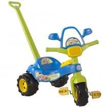 Triciclo Tico-Tico Cebolinha/Cascão com Som e Haste 2208 - Magic Toys - Magic Toys
