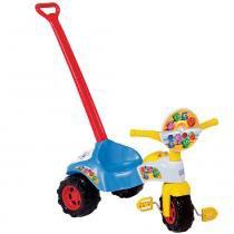 Triciclo Tico-Tico Formas Azul com Som e Haste 2705 - Magic Toys - Magic Toys