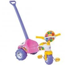 Triciclo Tico-Tico Formas Rosa com Som e Haste 2706 - Magic Toys - Magic Toys