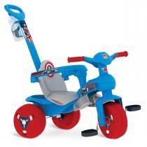 Triciclo Veloban Passeio Capitão América Bandeirante - Brinquedos Bandeirantes