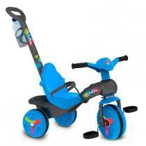 Triciclo Veloban Passeio com Cinto de Segurança Azul 230 - Bandeirante - Bandeirante