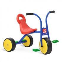 Triciclo Velotrol Infantil Escolar Azul Brinquedos Bandeirantes Azul -