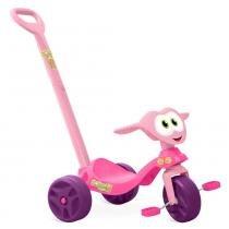 Triciclo Zootico Passeio  Pedal Rosa - Bandeirante