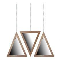 Trio Espelho Triângulo Crie Casa Marrom -
