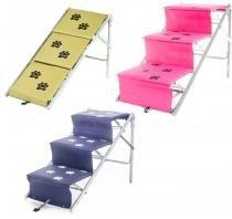 Tubline Escada Para Cães Cachorro Dobravel Rampa Pet -