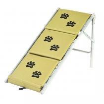 Tubline Escada Para Cães Cachorro Dobravel Rampa Pet cor Bege -