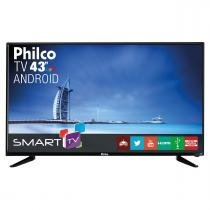 "TV Android LED 43"" Philco Full HD com Conversor Digital. Entradas 2 HDMI e 2 USB PH43N91DSGWA Preta -"