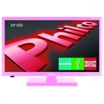 "TV LED 20"" Backlight HD Philco PH20U21DR Rosa DTV/HDM - Philco"