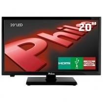 """Tv led 20"""" hd philco ph20u21d com receptor digital, entradas hdmi e entrada usb - Philco"""