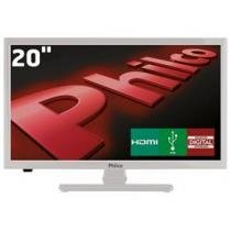 "Tv led 20"" hd philco ph20u21db com receptor digital, entradas hdmi e entrada usb - Philco"