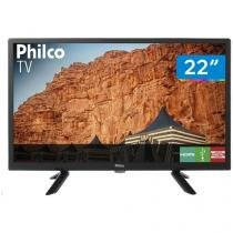"TV LED 22"" Philco PTV22G50D Conversor Digital - 2 HDMI 1 USB"