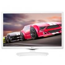 "TV LED 23.6"" LG 24MT49DF-WS HD com 1 USB 1 HDMI DTV Gaming Mode Time Machine Ready e Função Monitor Branco - Elgin calculos"