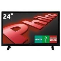 """Tv led 24"""" hd philco ph24e30d com conversor digital integrado, entradas hdmi e entrada usb -"""