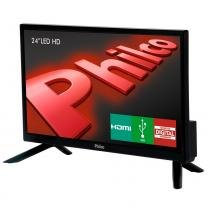 TV LED 24 Polegadas Philco HD HDMI USB PH24N91D -