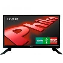TV LED 24 Polegadas Philco HD HDMI USB PH24N91D - Britânia philco