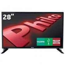 "Tv led 28"" hd philco ph28d27d com conversor digital integrado, progressive scan, entradas hdmi e entrada usb - Philco"