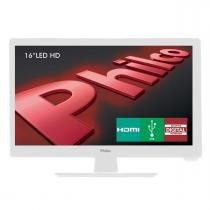 "TV LED Backlight 16"" PH16D10DB DTV/HDMI Branco Philco -"