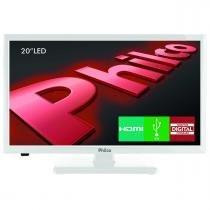"TV LED Backlight 20"" PH20U21DB DTV/HDMI Branco Philco -"