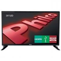 "TV LED Backlight 28"" PH28D27D DTV/HDMI Preto Philco -"