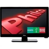 """TV LED Philco 16"""" HD H16D10D, HDMI, USB, Conversor Digital - Preto -"""