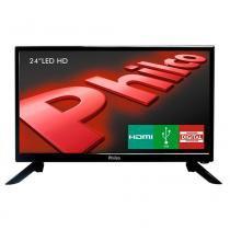 "TV Philco Led HD 24"" PH24N91D Entrada HDMI, USB, Conversor Digital - Philco"
