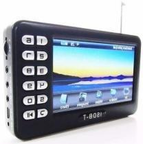Tv Portatil Digital 4.3 C/ Radio Fm, Entrada Usb E Sd Novo Or - Bk imports
