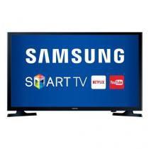 """TV Smart LED 32"""" Samsung (HD, Wi-Fi, Entradas HDMI e USB + Suporte de Parede ELG E200) - UN32J4300AG -"""
