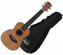 Ukulele Concert Barth Guitars Acustico Natural - AC + Capa Bag - Barth