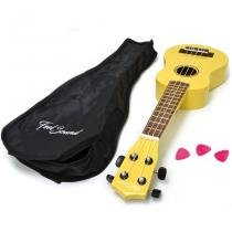 Ukulele na cor amarela da feel sound - Feelsound