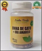 Unha de gato + Uxi Amarelo 500 mg 60 cápsulas Ninho Verde -
