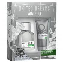 United Dreams Aim High Benetton - Masculino - Eau de Toilette - Perfume + Pós Barba - Benetton
