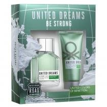 United Dreams Be Strong Benetton - Masculino - Eau de Toilette - Perfume + Pós Barba - Benetton