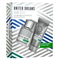 United Dreams Benetton Aim High Kit  Eau de Toilette + Loção Pós-Barba - Benetton