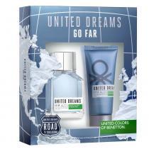 United Dreams Go Far Benetton - Masculino - Eau de Toilette - Perfume + Pós Barba -