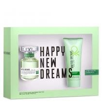 United Dreams Live Free Benetton- Feminino - Eau de Toilette - Perfume + Loção Corporal - Benetton