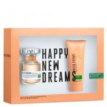 United Dreams Stay Positive Benetton - Feminino - Eau de Toilette - Perfume + Loção Corporal - Benetton