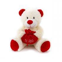Ursinho de Pelúcia Amoroso com Coração Bichinhos Carinho - Bichinhos Carinho