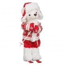 Urso Pelúcia Natal Esqui 36cm - Regina -