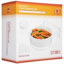 Vaporeira para microondas kitchen craft 2,2l -